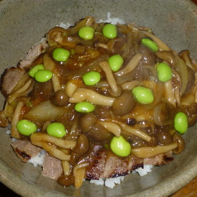 中華風ステーキ丼