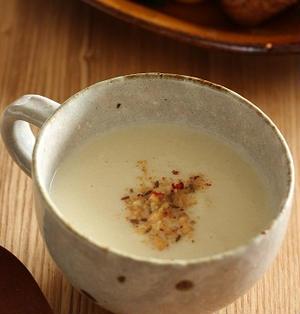 野菜の芯のポタージュスープ