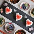 バレンタインデーに♪ハートのイクラ寿司献立