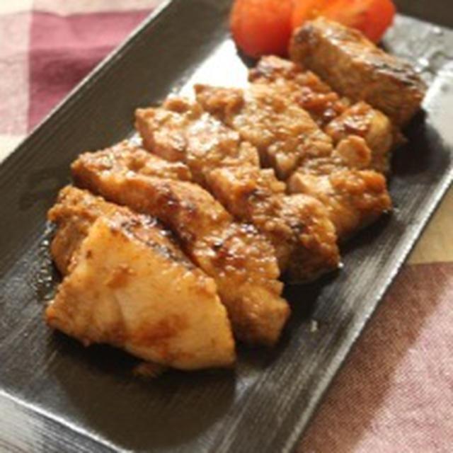 りんごが決め手の♪トンテキ&今日のお弁当~ベーコンのオクラ巻き~