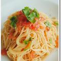 カッペリーニじゃありません! シンプルなトマトの冷製カペッリーニ