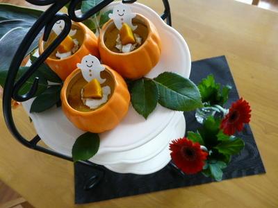 濃厚~かぼちゃのプリン~黒蜜添え♪