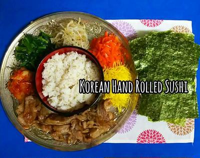 韓国風♪手巻き寿司