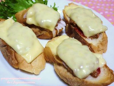 <サクサクねばねばピッツァトースト(フランスパンと納豆のピッツァトースト)>