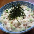 納豆のきゅうりと長芋の梅ポン酢ぶっかけ♪
