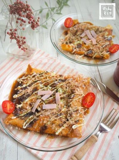 【レシピ・献立】ホットケーキミックスで激うま、お好み焼き風もちもちガレット