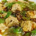 麻婆レタス豆腐<辛味が優しい味に変わります>