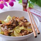 豚バラ肉とキャベツの麻辣醤味噌炒め