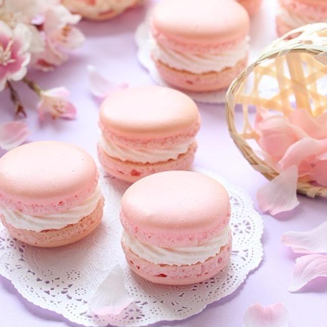 春を告げる桜のマカロン ~春の定番メニュー&お知らせ☆