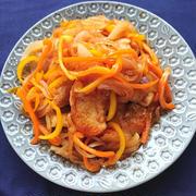 野菜たっぷり玉ねぎとピーマンと鶏胸肉の甘酢あんヘルシー、ダイエット