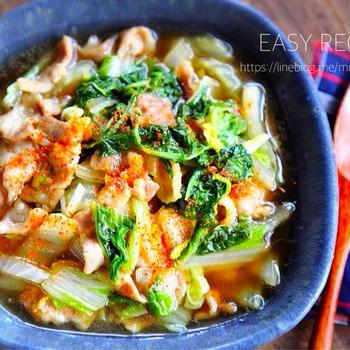 ♡フライパンde超簡単♡豚肉と白菜のうま煮♡【#時短#節約#レシピ#煮物】