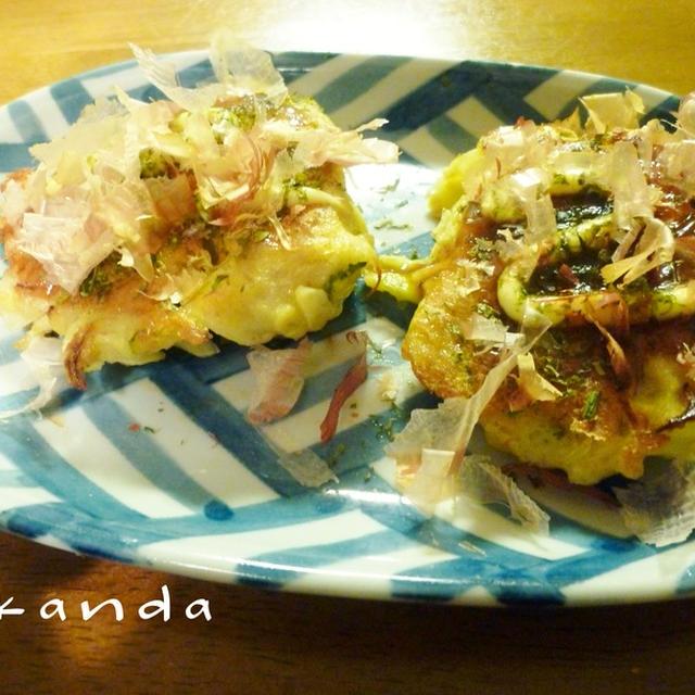 レンコンdeもちもちふわふわお好み焼き&豚バラ白菜の中華スープ&切り干し大根のマヨーグルトサラダ