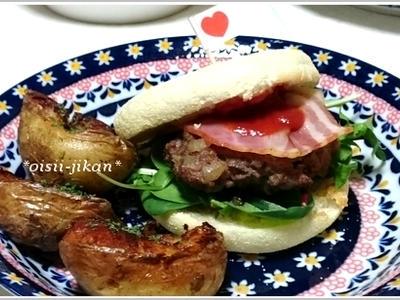 >イングリッシュマフィンで作るハンバーガー by ちるちるさん
