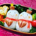【キャラ弁】#73 バレンタイン雪だるま弁当  [Michelle's Bento]