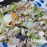 ブログをお休みしていて、ご紹介しなかった夕ご飯 豆腐チャンプル―&生春巻き