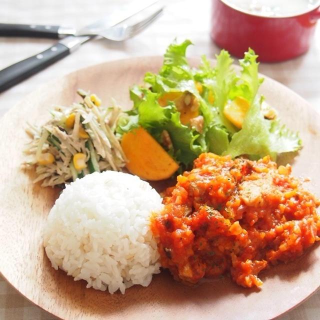 【目指せ美肌】鶏肉のトマト煮込みプレート