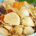 ■和のおかず【五目飯・豚汁の余り+材料で 里芋の煮付け】