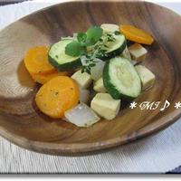 『こうや豆腐の温野菜サラダ』