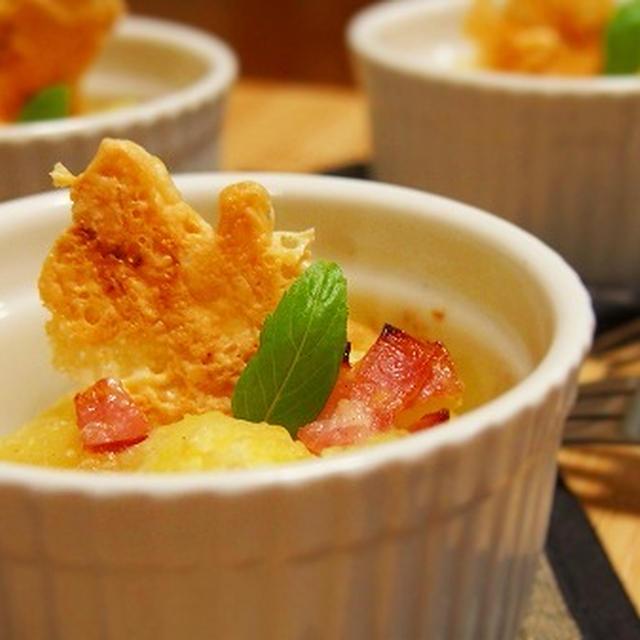 ポテトのオーブン焼き  パリパリ(サクサク)!チーズ煎餅のせ♪