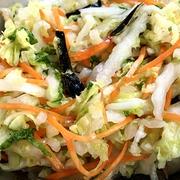 白菜と竹輪の和え物♪