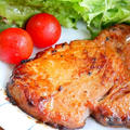 レタス巻き巻き*豚の味噌漬け焼き