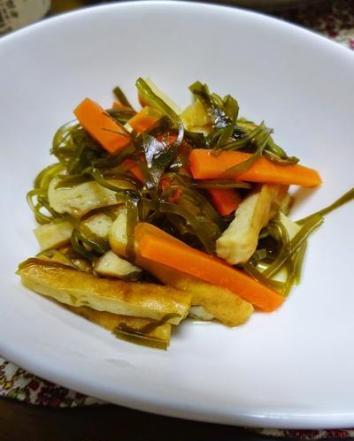 簡単美味しい日本の味。切り昆布の煮物