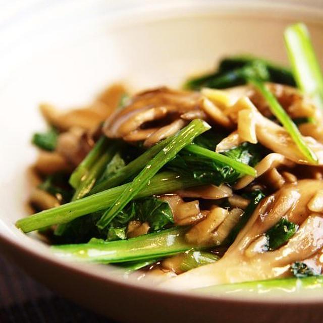 小松菜と舞茸の炒め