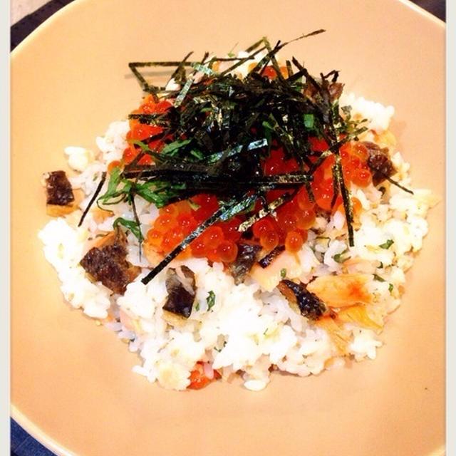 ミツカンすし酢で♡鮭といくらの親子寿司