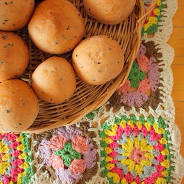紅サツマイモパンとクッキー