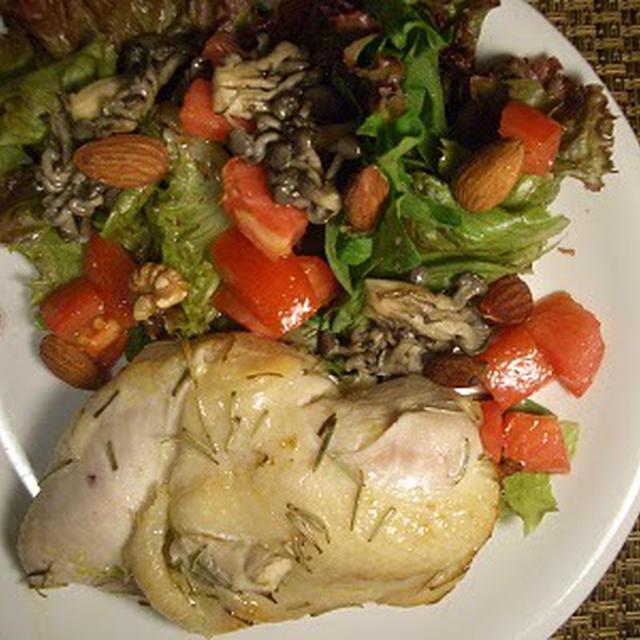 チキン胸肉マリネとサラダのプレート~糖質制限食~