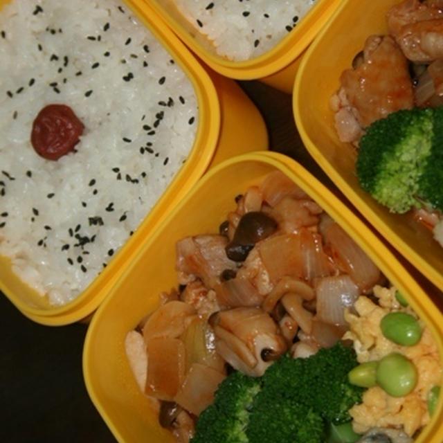 8月17日  鶏肉の チリケチャ炒め弁当