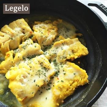 超簡単☆タラのサフランチーズ焼き&ロッジのスキレット♪