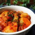 里芋とタラのトマト煮