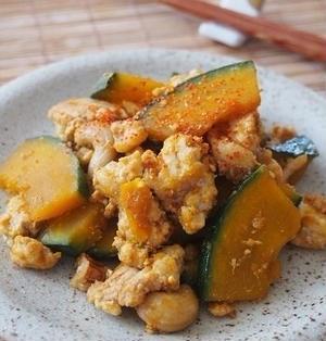 かぼちゃ&鶏ひき肉のピリ辛炒め♪&掲載のお知らせ