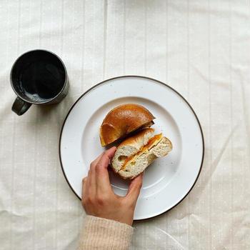 ベーグルを焼きました。パリで食べてた朝食サンド
