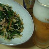 豚肉とニラのキムチ炒め