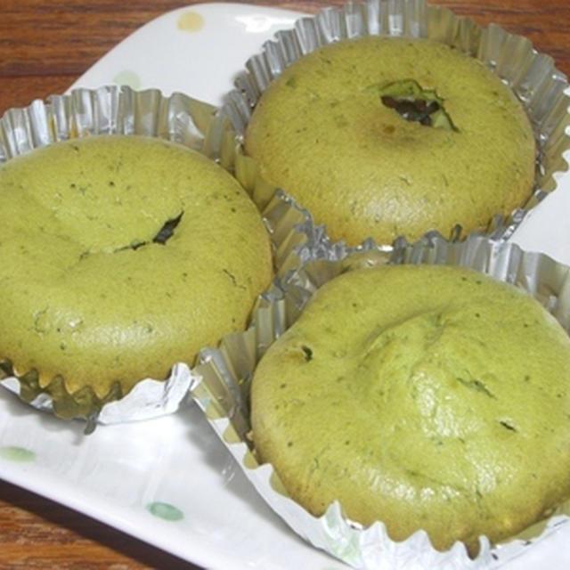 抹茶あずきカップケーキ