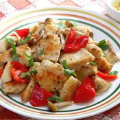 鶏ムネ肉ときのこのイタリアンホットサラダ
