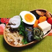 ビックリ!高野豆腐、サバの塩焼き弁当・夏みかんいりもずく・松花堂弁当