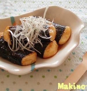 豆腐の磯辺照り焼き