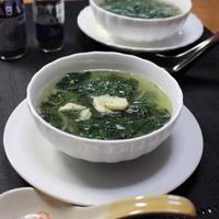 モロヘイヤの中華風スープ・夏バテに体に薬膳スープ