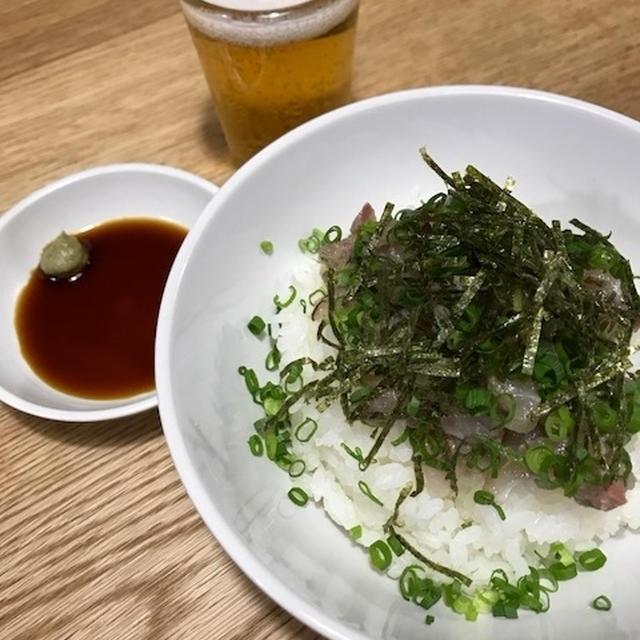 生魚料理は楽・・・ 「アジのなめろう丼」