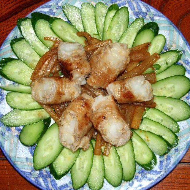 豚肉巻き大根の味噌焼き&里芋とひき肉の傷め煮
