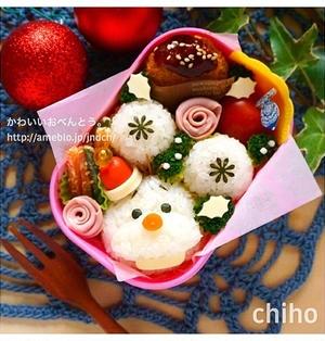 ツムツム♪クリスマスっぽいオラフ弁当♡