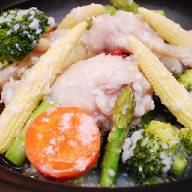 手羽元とお野菜の塩麹蒸し