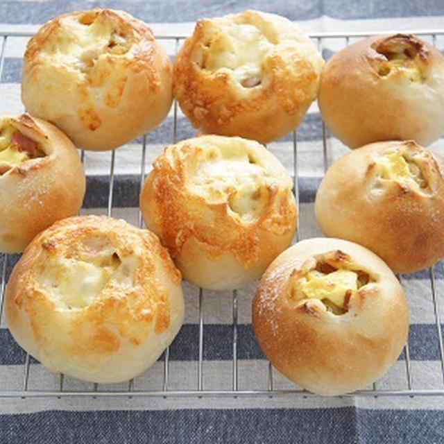 カリカリチーズのカレーポテトパン