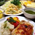 バジルソース&鶏もも肉のグリル焼きです☆