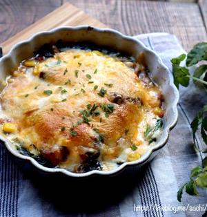鯖缶とほうれん草のチーズ焼き♡【#鯖缶#簡単レシピ#】