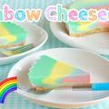レインボーチーズケーキ 食欲をそそるパステルカラー♪(動画レシピ) by オチケロンさん