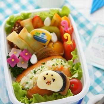 【掲載】雨の日も楽しく☆マロ子弁当
